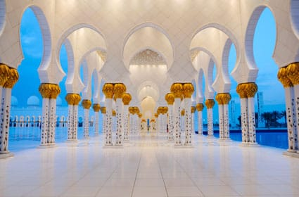 Grande Mosquée Sheikh Zayed / Abu Dhabi / croisières au Moyen Orient