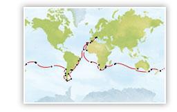 Tour du monde austral Costa Deliziosa 2015