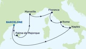 Dès la mi-mai 2015 et ce pour toute la saison, le mastodonte américain partira tous dimanche de Barcelone pour une croisière de 7 jours