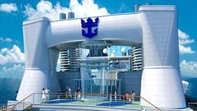 Simulateur de chute libre en pleine mer
