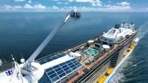 Quantum of the Seas - et le bras panoramique North star