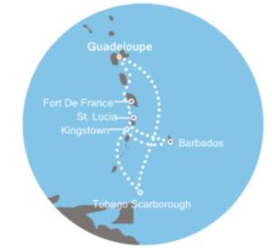 Itinéraire Costa Magica Caraibes Sud