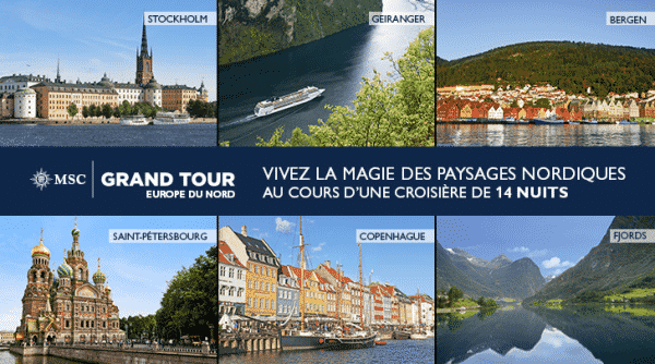 MSC Grand Tours Europe du Nord