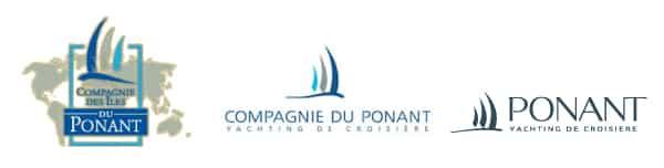 Evolution du nom et du logo de la compagnie Ponant