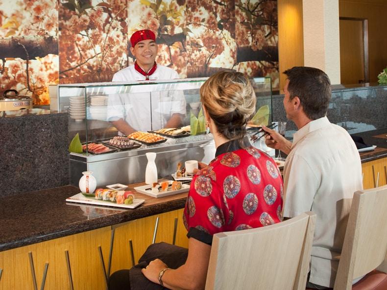Exemple sur restaurant Izumi, présent sur l'Oasis of the Seas