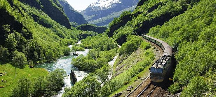 Le chemin de fer de Flåm à Myrdal