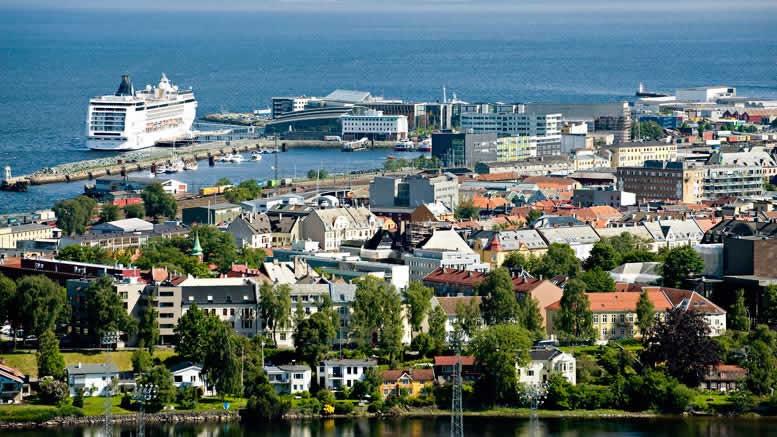 Vue de Trondheim