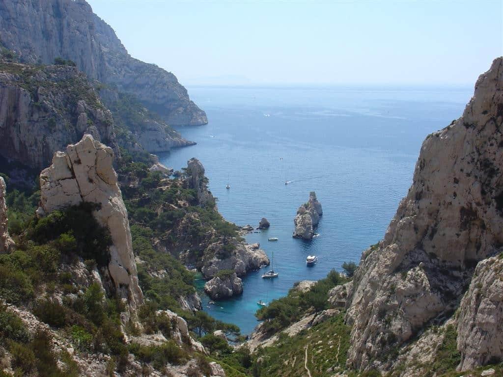 Paysage des côtes non loin de Marseille
