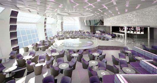 Lounge situé à l'arrière © MSC Croisières