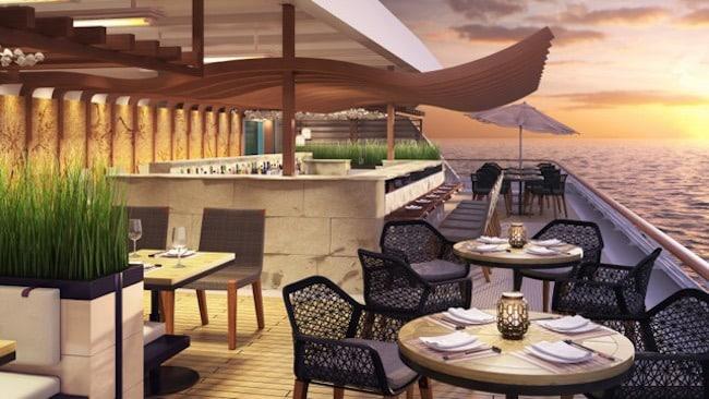 Terrasse du restaurant Kibo © Azamara Club Cruises