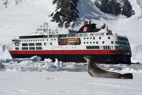 Le navire Fram en Antarctique