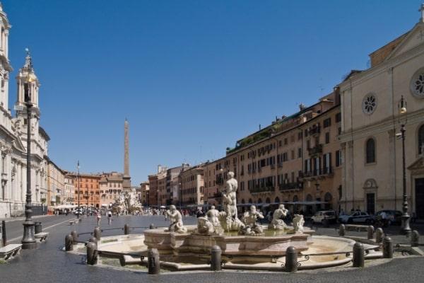 La piazza Navona et ses fontaines