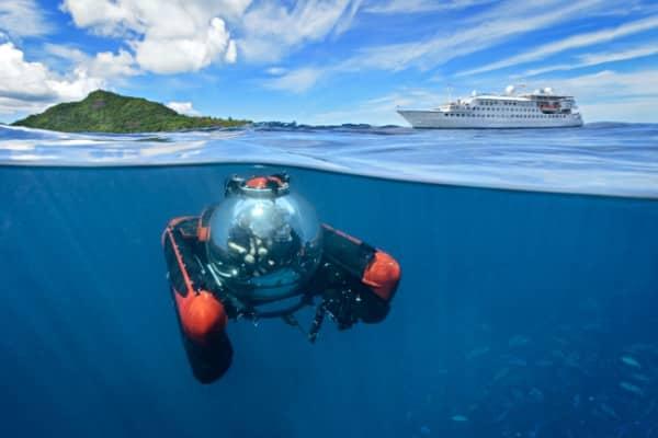 Sortie sous-marine non loin du Crystal Esprit