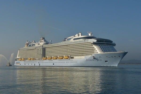 Arrivée inaugurale de l'Anthem of the Seas à Southampton © D.R