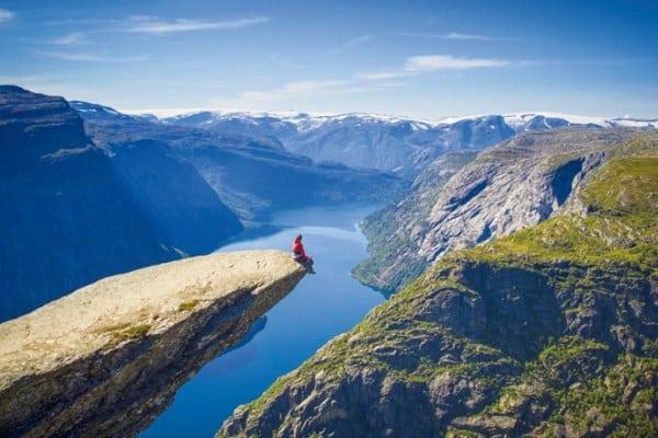Paysages naturels des fjords norvégiens