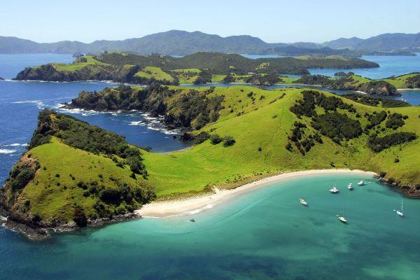 Paysages naturels de Bay of Islands en Nouvelle-Zélande