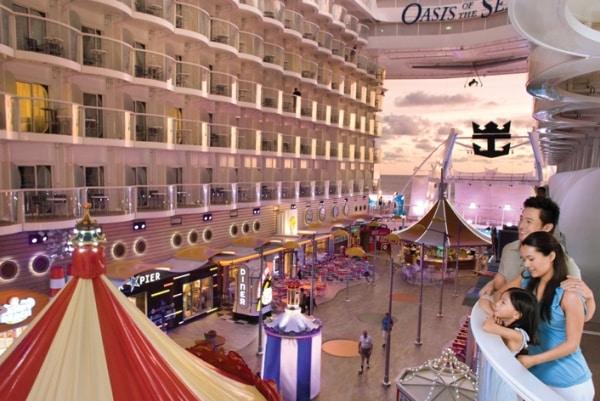 Cabine donnant sur le Boardwalk sur l'Oasis of the Seas