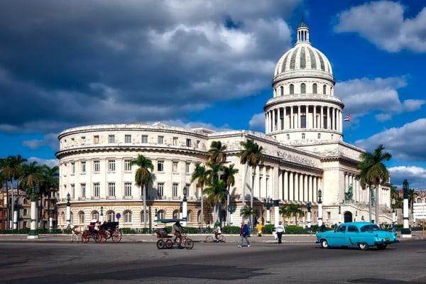 La place du Capitole de La Havane