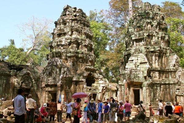 Partie du temple majestueux d'Angkor Wat