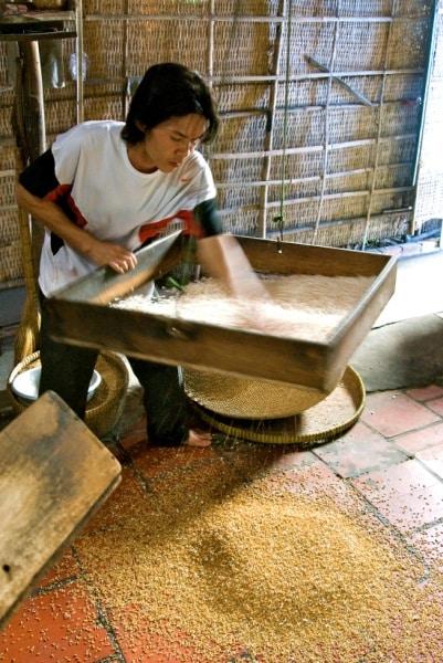 Fabrication de gâteaux à base de riz soufflé