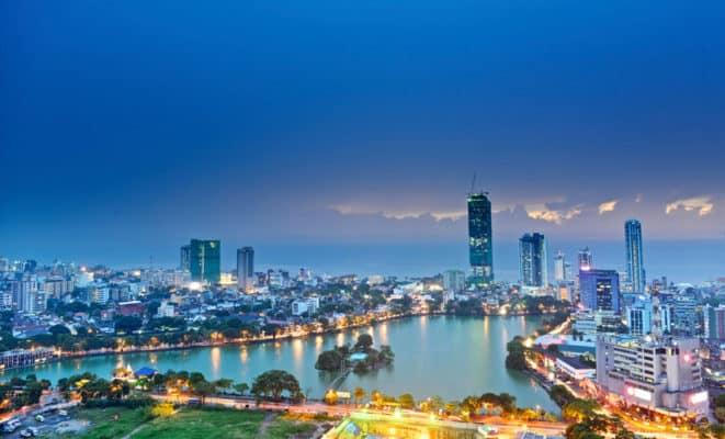 Vue nocturne de Colombo